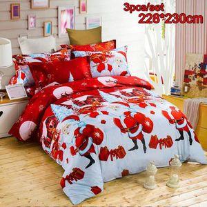 parure de lit noel achat vente parure de lit noel pas. Black Bedroom Furniture Sets. Home Design Ideas