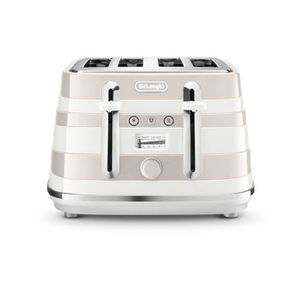 GRILLE-PAIN - TOASTER Delonghi CTA4003W Grille-pain 4 fentes 1800W Blanc