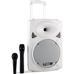 ENCEINTE ET RETOUR IBIZA PORT10VHF-BT-WH Système de sonorisation port