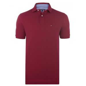 POLO TOMMY HILFIGER Polo Manches courtes - Homme - Roug