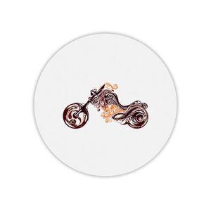 TAPIS DE SOURIS Tapis de souris rond imprimé moto arabesque