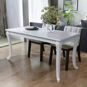 Table a manger blanche laquee