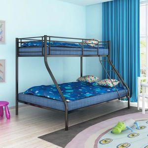 LITS SUPERPOSÉS Cadre de lit superposé pour enfant 200x140-200x90