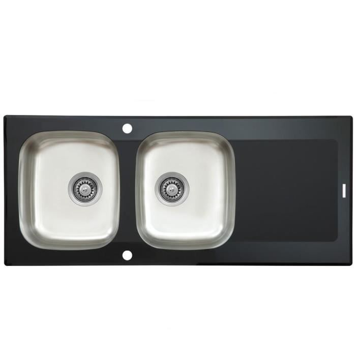 Evier inox deux bacs affordable evier inox bacs with - Evier deux bacs ...