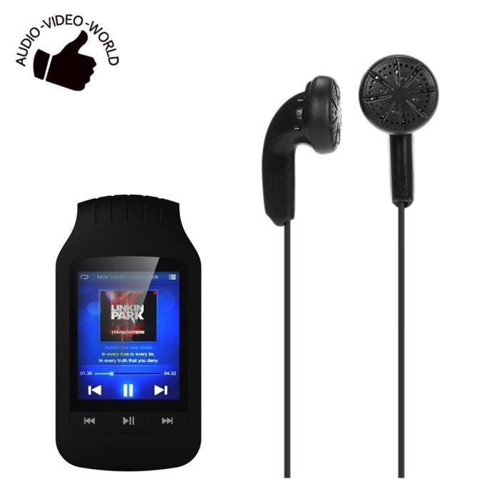LECTEUR MP3 Lecteur MP3 Bluetooth 8 Go écran Bouton avec clip