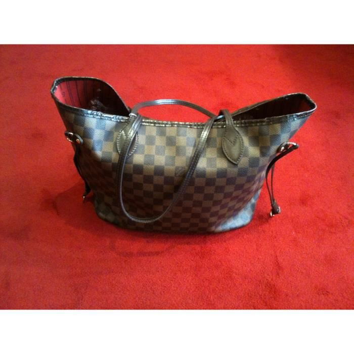 Sac Louis Vuitton Neverfull MM en toile damier - Achat   Vente Sac ... 00605610b0f