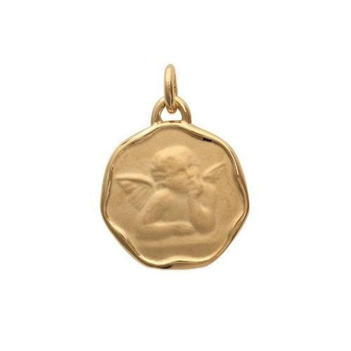 MARY JANE - Pendentif plaqué Or - Larg:17mm - Haut:17mm -Femme - Ailes - Ange