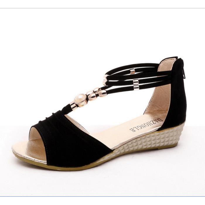 plates nouvelle La Mme sandales Bohemian perlée PvW0UH7