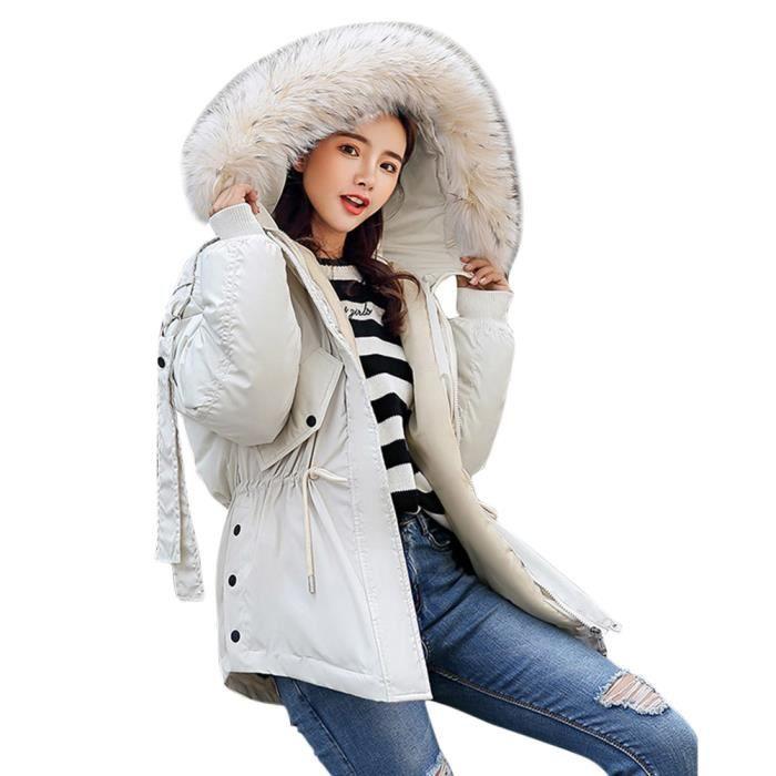 Veste Manteau Capuche Minetom Chaud À Jacket Hiver Femme Doudoune TInqH1