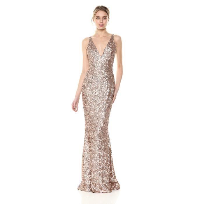 f8183fa8c19 Harper Sequin manches Plongeant robe longue de femmes LFQKJ Taille-M ...