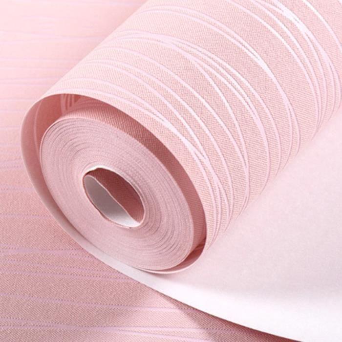 Rouleau De Papier Peint Rose Clair 0 53m 10m Achat Vente
