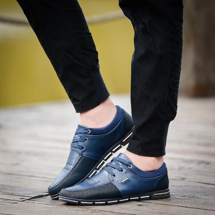 Les Hommes Mode Chaussures Mesh Casual Appartements d'été Nouveau confortables hommes Mocassins Chaussures pour Respirant x45qw0C