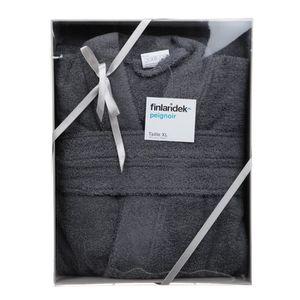 FINLANDEK Peignoir ? Col Kimono - Gris - Taille XL