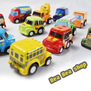 VOITURE ENFANT Enfants Cute Mini Pull Push voiture 6pcs Boy's Toy