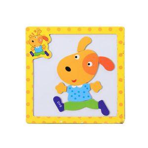 PUZZLE Bois Jeux Jouets Magnet Puzzle Enfants,Chien