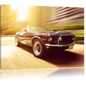 TABLEAU - TOILE Toile imprimé Ford Mustang, complètement encadrées