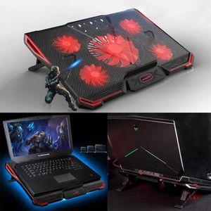Wind Refroidisseur PC portable - Refroidissement Rapide - 5 Ventilateurs  Support Ventilé Gamer Gaming Plaque 30cdee7469c9