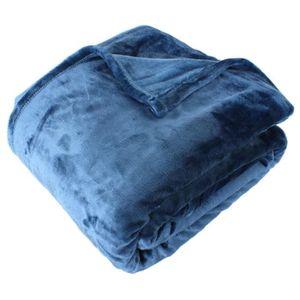 plaid bleu achat vente pas cher cdiscount. Black Bedroom Furniture Sets. Home Design Ideas