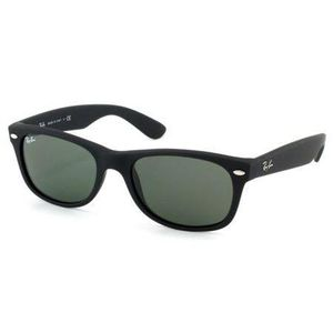 34eff7af56699 LUNETTES DE SOLEIL Wayfarer 2132 noir mat-verre G-15 Taille ML (55mm