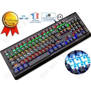 CLAVIER D'ORDINATEUR TD® clavier gamers mecanique rgb pas cher ps4 qwer