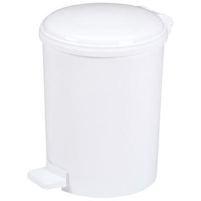 poubelle a pedale plastique blanc avec seau 20l achat vente poubelle corbeille poubelles. Black Bedroom Furniture Sets. Home Design Ideas