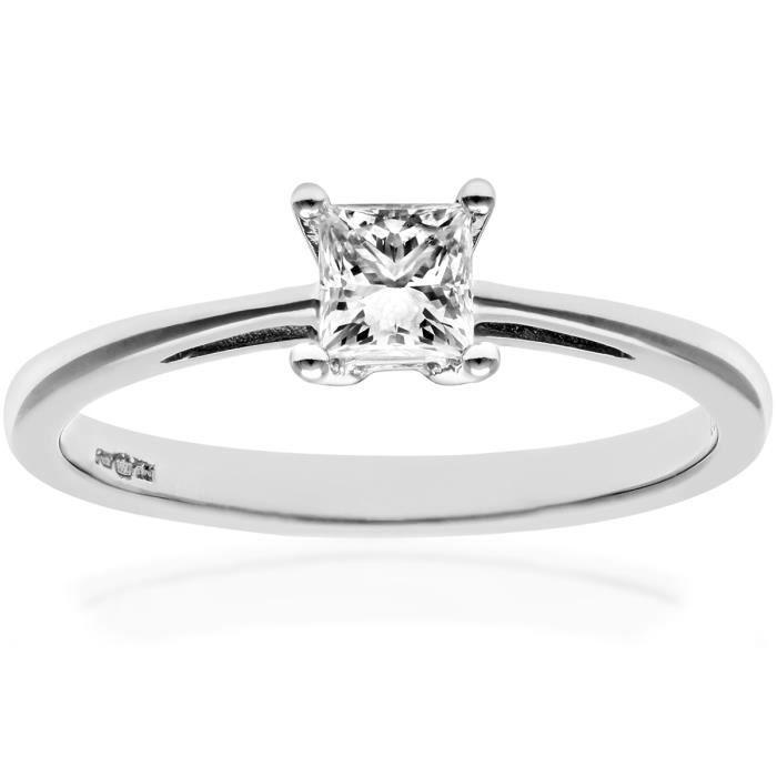 Revoni Bague Solitaire Diamant Platine 950° Femme: Poids du diamant : 0.33 ct - CD-PR09544PTJPK-P