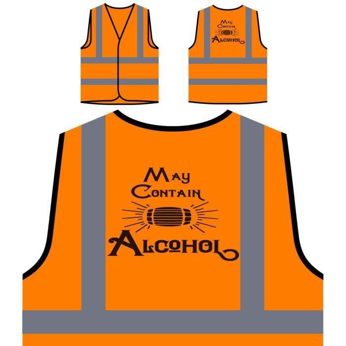 De Protection Visibilité L'alcool Contenir À Orange peut Personnalisée Ha Veste Haute gHxpqndgw