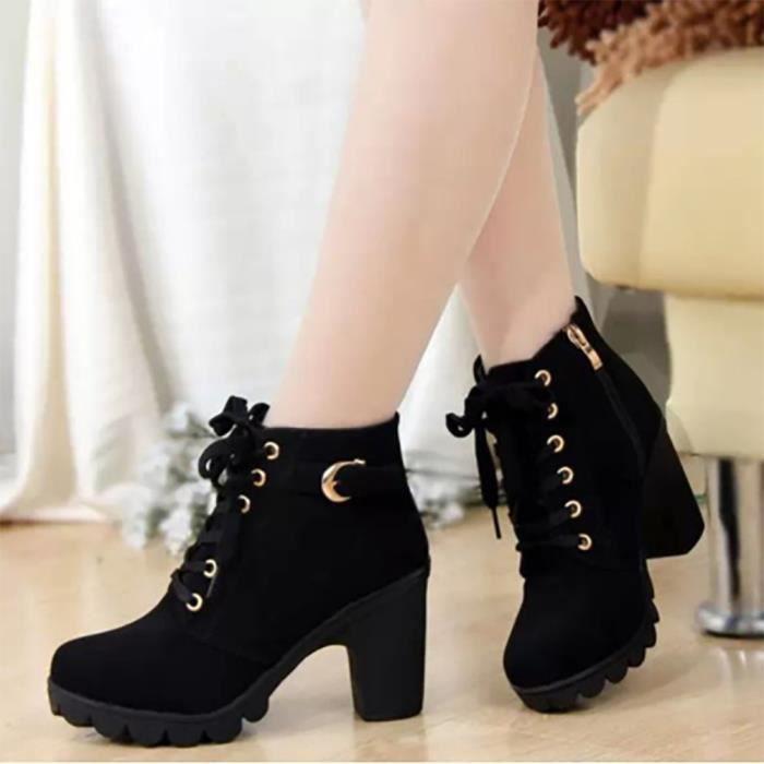 bottine Chaussures mode et femme boucle lacet fdWHwqdx8r