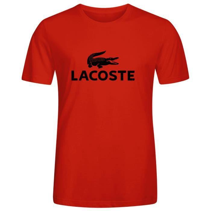 Site officiel répliques fournir beaucoup de Homme Unique Personnalisé Coton T shirt Lacoste Logo Men's ...