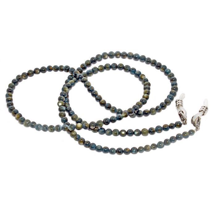 6b60b9b188 Rainbow safety Cordon pour Lunettes Porte-Lunette Perles 4-5mm RC-Mère  Perle noire