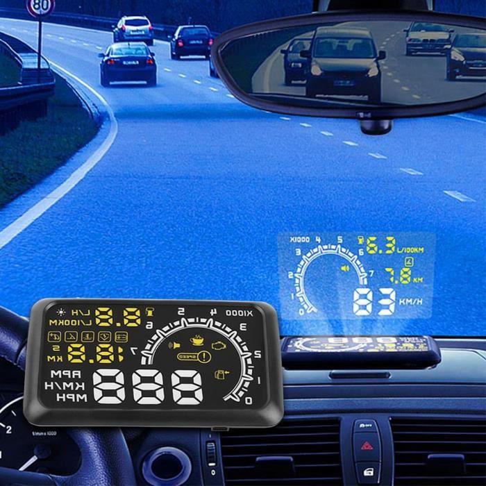 compteur de vitesse gps tete haute autonome pour voiture informaci n del coche. Black Bedroom Furniture Sets. Home Design Ideas