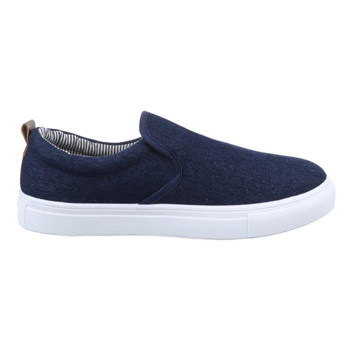 homme chaussures flâneurs loisirs chaussures Slipper Bleu foncé 42