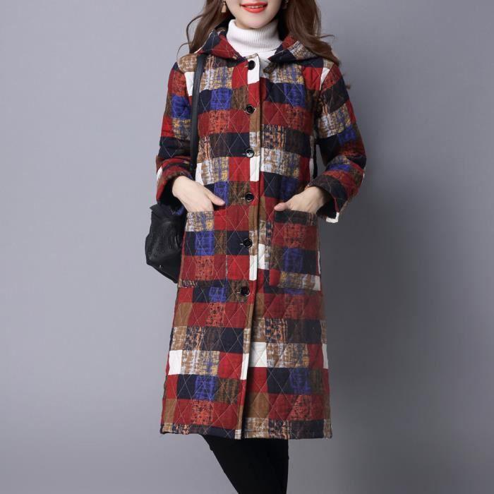 Taille App9570 Parka D'hiver Long custom Rembourré Folk À Coton Veste Plus Manteau Puffer Femmes dAwO6Rq6