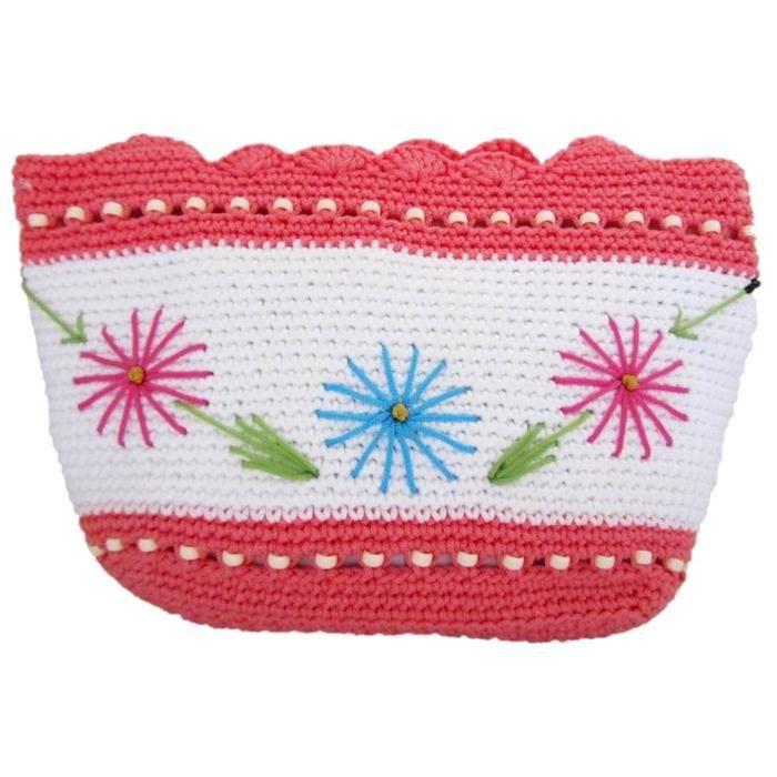 Main crocheté bourse Sac à main en tricot Sac à bandoulière pour les femmes H9455