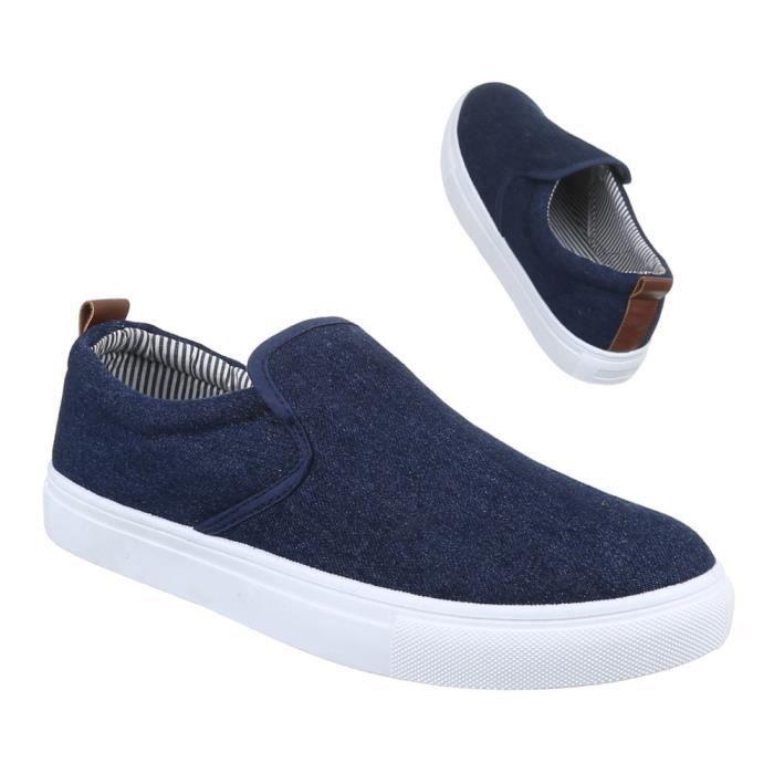 homme chaussures flâneurs loisirs chaussures Slipper Bleu foncé 42 0BZ4oijD