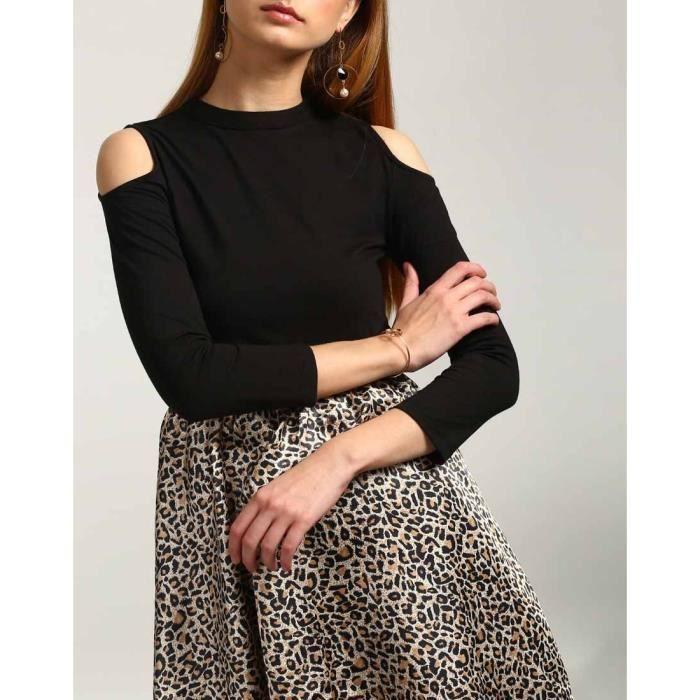 40 animal animalUVOD4 imprimé Trendtwo Taille Riesa Imprimé Robe dépaule froide femmes des P7175qw