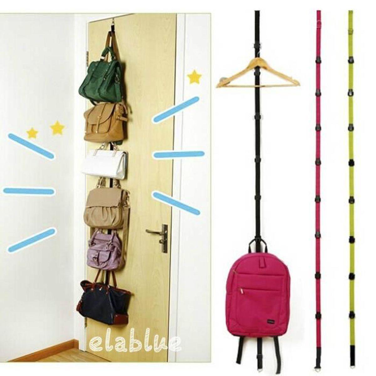 newcomdigi suspension chapeau et sac porte manteaux 8 crochets de rangement achat vente. Black Bedroom Furniture Sets. Home Design Ideas