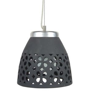 LUSTRE ET SUSPENSION TOURAL   Lustre - suspension céramique, diamètre 2