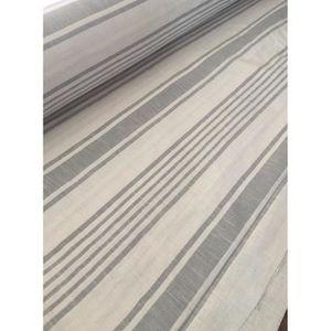 tissu lin rayure grise qualit lourde grande largeur 280cm poids 250gr m2 tissage france. Black Bedroom Furniture Sets. Home Design Ideas
