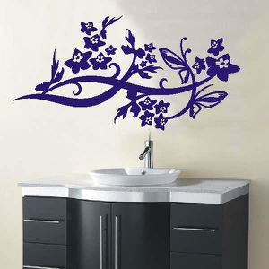 STICKERS stickers muraux autocollants d192 orchidee Etoiles