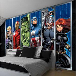 papier peint marvel achat vente pas cher. Black Bedroom Furniture Sets. Home Design Ideas