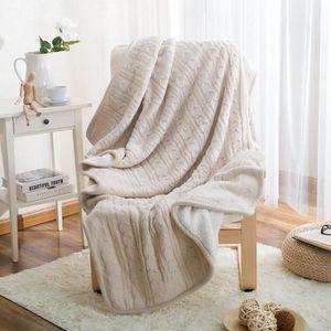 plaid tricot achat vente plaid tricot pas cher cdiscount. Black Bedroom Furniture Sets. Home Design Ideas