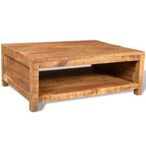 TABLE BASSE Table Basse Carrée en manguier style Antique avec