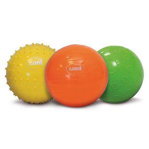 BALLE - BOULE - BALLON LUDI Balles Sensorielles coffret de 3
