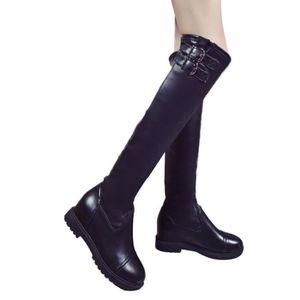 BOTTE Boot Bottes hautes de mode en cuir pour femme d'hi