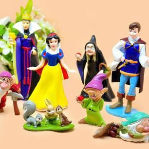 FIGURINE - PERSONNAGE 1 Ensemble de  ( 8 Pcs-Lot ) princesse blanche - n
