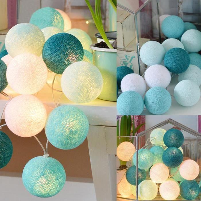 20 boules de coton de bille de guirlande de lumières de mariage de  chambre-GZJ71012203A_3780