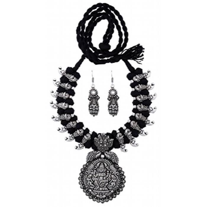 Womens Antique Oxidized Thread Jewelry Necklace Earing Set (bsaotjnes09305$p) IAQ06