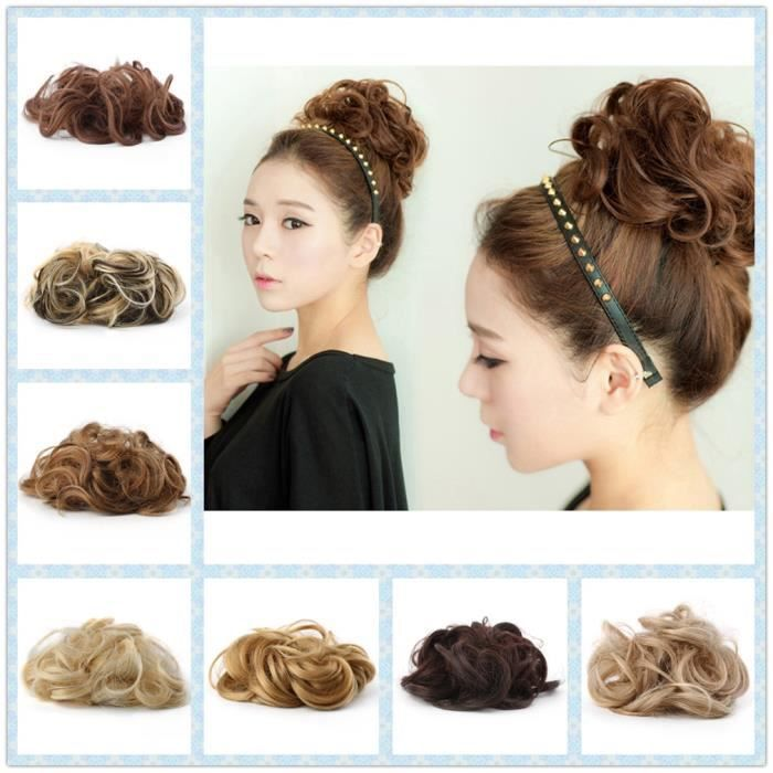 Curly Messy Chignon Twirl Piece New Women Wigs Extensions Coiffure 2