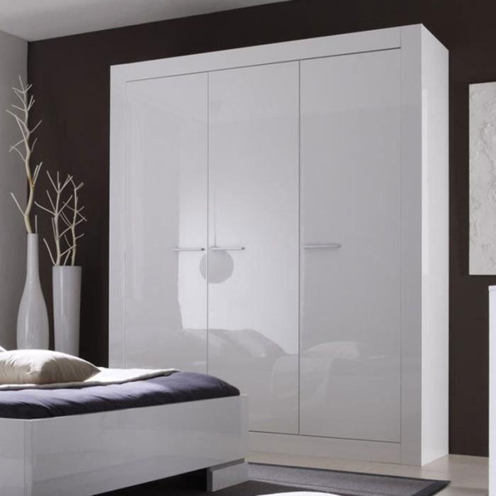 Armoire blanc laqué design MILLESIME Option 1 - Achat / Vente ...